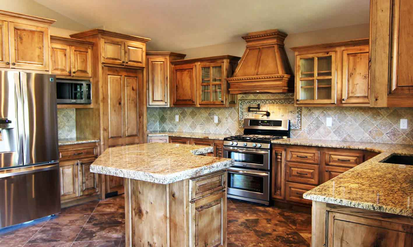 Gallery castlerock homes custom homes in east idaho for Castle kitchen cabinets